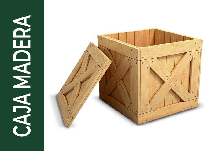 tipo de embalaje caja madera